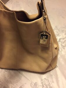Cream Leather Coach Bag