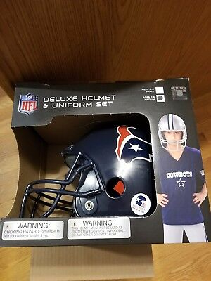 Houston Texans Uniform Set Youth NFL Football Jersey Helmet Kids Costume Large - Youth Football Costumes
