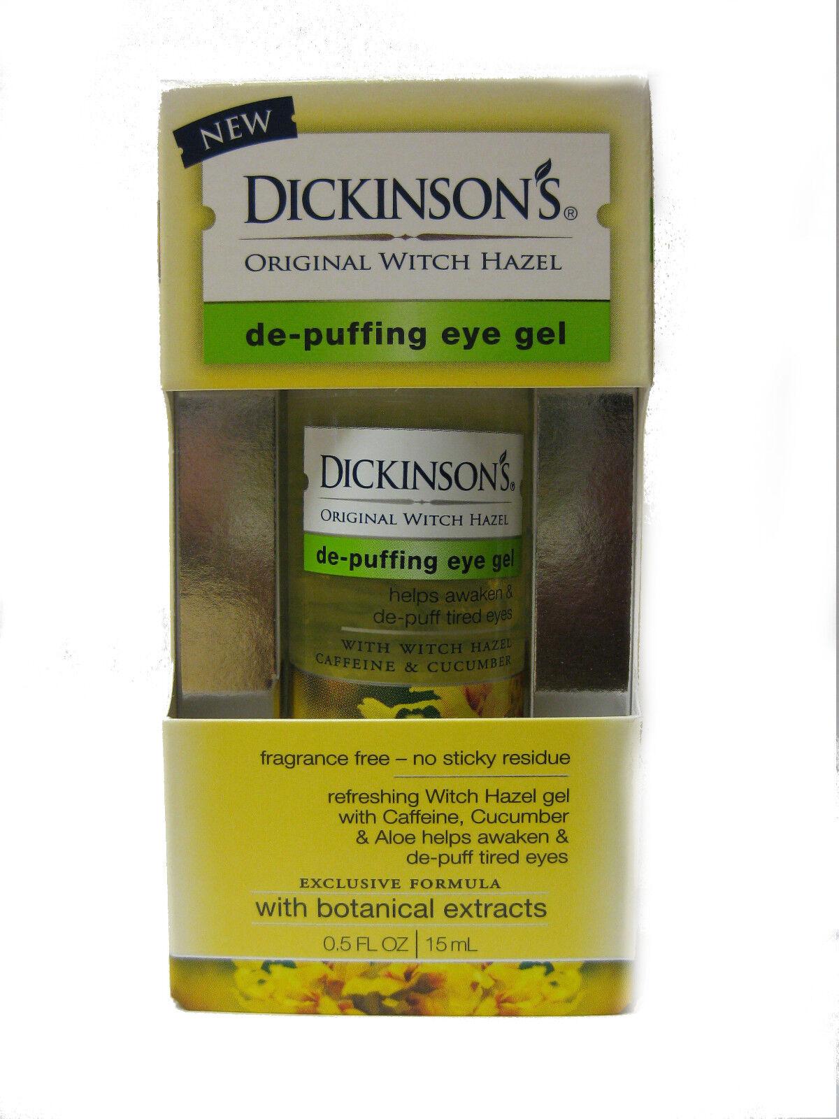 Dickinsons Original Witch Hazel De Puffing Eye Gel 0.5 Oz LO