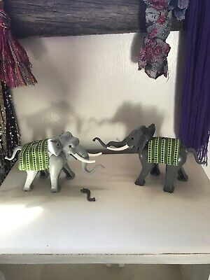 LEGO ANIMAL Adventurers Orient Expedition Dark Gray Elephant  Light Gray Pair