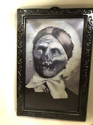 """Haunted Halloween Portraits (NEW Halloween Lenticular Haunted Portrait Ghost 3D Changing 10x15"""" Frame)"""