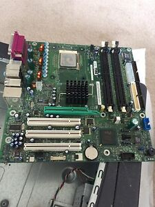 Motherboard with CPU and heat sink for sale
