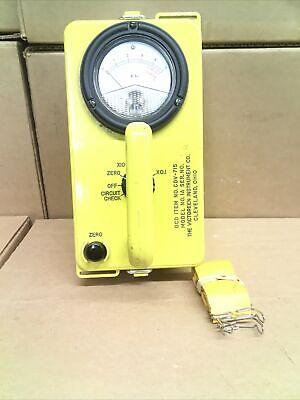 Civil Defense Victoreen Instrument Cdv-715 Model 1a Radiation Detector 53472