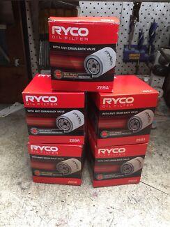 RYCO Z89A OIL FILTERS x 5