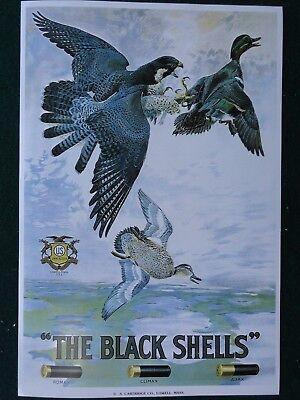 U.S. Ammunition Advertising Poster The Black Shells Shotgun Shells Lowell Mass.