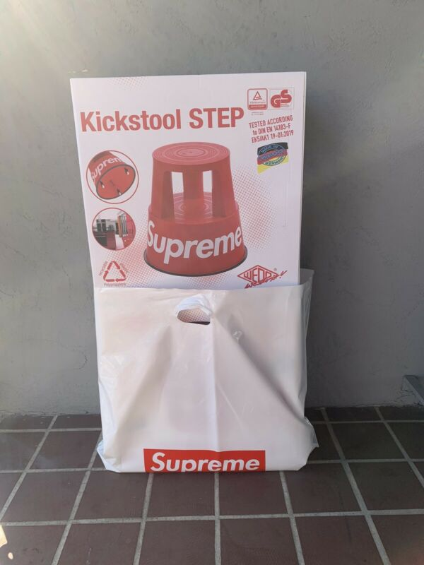Supreme Wedo Step Stool Red Or Black - *IN HAND* - *SOLD OUT*