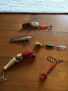 Vintage wood fishing lures