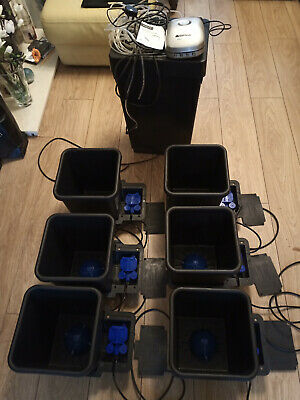 Autopot  6 Pot Hydroponics Watering System with air Domes and 6 way quiet pump