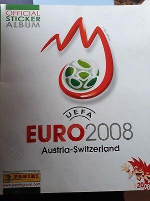 PANINI ALBUM UEFA EURO 2008 AUSTRIA SWITZERLAND NUEVO CON 6 CROMOS segunda mano  Adra