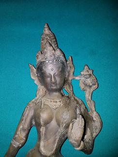 Indian goddess statue.