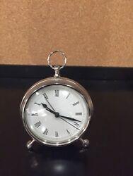 Pottery Barn Pocket Watch Tabletop Clock Brass
