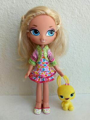 Girlz Girl Bratz Kidz Kid Cloe Doll Blonde Hair Blue Eyes Clothes Shoes Pet
