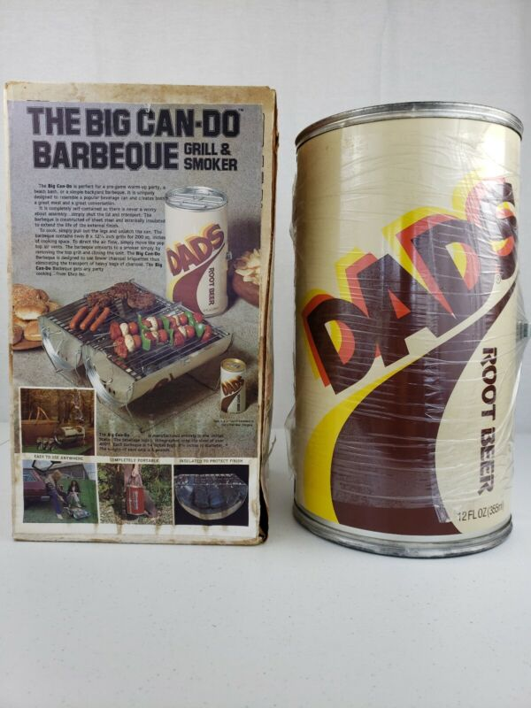 Dads Root Beer The Big Can Do Barbeque BBQ Grill & Smoker Cool Fathers Day Gift!