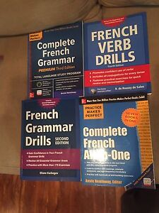 FRENCH workbooks, never used! Brand new
