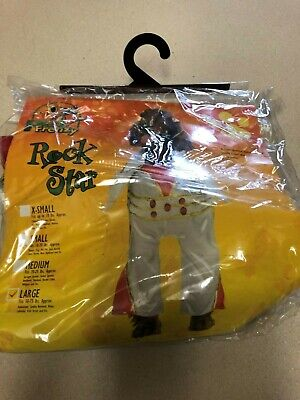 Pet Frenzy Dog Costume Rock Star Large New ()
