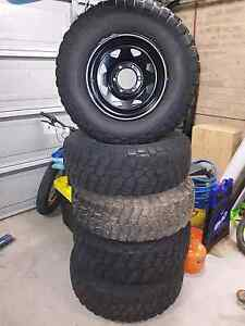 5 x BF Goodrich Muddy's 265 75 r16 tyres and rims Albion Park Shellharbour Area Preview