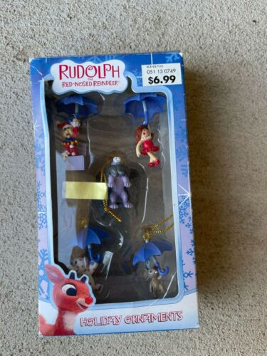 5 Mini RUDOLPH THE RED-NOSED REINDEER ~ ISLAND OF MISFIT TOYS HOLIDAY ORNAMENT