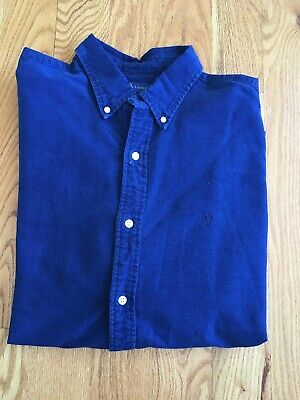 Polo Ralph Lauren Sz. XL Slim Indigo Oxford Long Sleeve Button Down