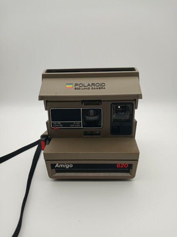 Vintage Polaroid 600 Land Camera Amigo 620  Uses 600 Land Film Untested