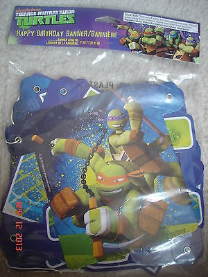 NEW Teenage Mutant Ninja Turtles TMNT Happy Birthday party banner decoration - Ninja Turtles Party Decorations