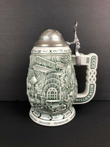 Avon Millennium 1000 Years of History Collector's Stein Mug Made in Brazil