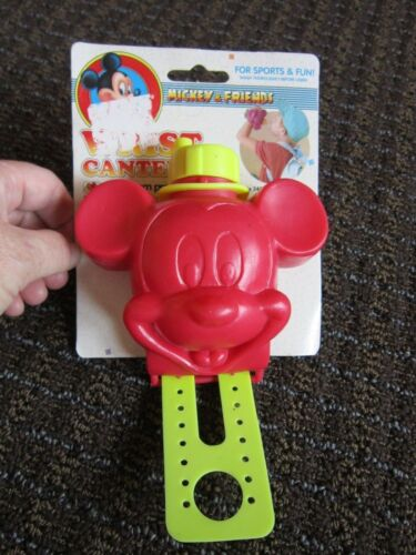 Mickey Mouse Canteen Wrist NOS New Disney Drinking Bottle Wearable Collectible