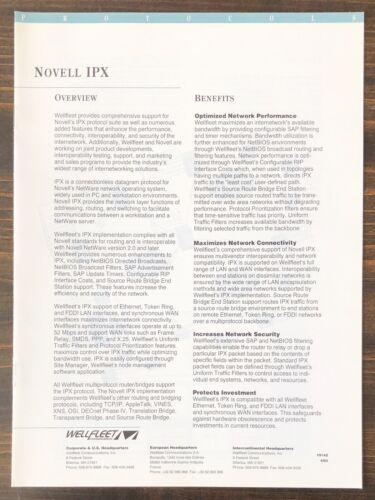 Wellfleet Communications - Novell IPX Sales Brochure (1993)