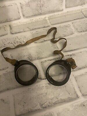 Vintage Steampunk Aviator Safety Or Welder Goggles Glasses Black