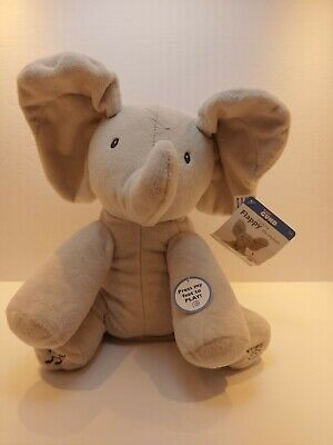 Baby GUND Flappy The Elephant Kids Plush Toy Peek-a-Boo Animated Talking Singing