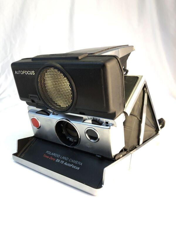 Vintage Polaroid SX-70 Land Camera Instant Film - Black - Untested