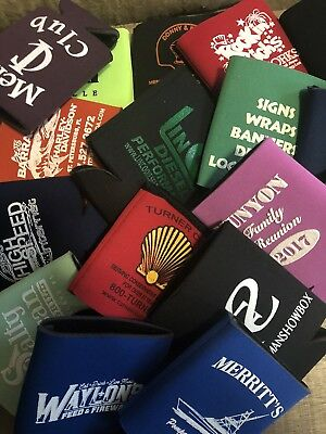 20 Can Koozie Lot Beer Bottle Cooler Mixed Colors Huggie Coozie Insulator