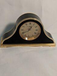 Howard Miller Mantle Desk Alarm Clock Gold Trim/ Black. Working