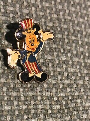 Vintage Mickey Mouse Uncle Sam Lapel Pin 1989 Walt Disney~Eastman Kodak (DB) NF