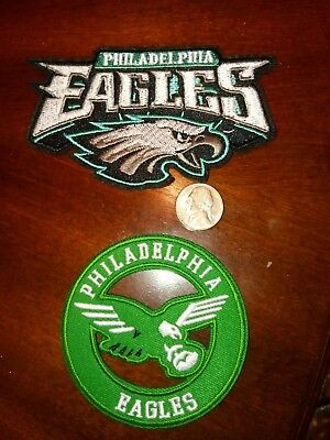 (2) Philadelphia Eagles vintage embroidered iron on Patch  4.5
