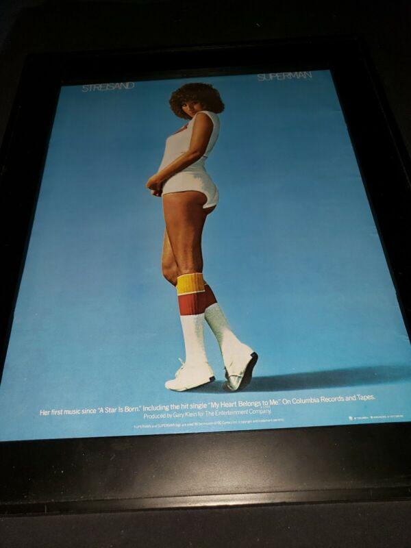 Barbra Streisand Superman Rare Original Promo Poster Ad Framed! #2