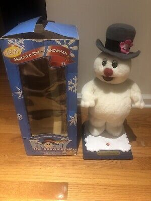 Vintage Gemmy Frosty The Snowman 1997 ANIMATED Singing Christmas Head/Arm Move