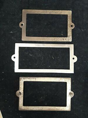 Three Original Mills Novelty Slot Machine Award Card Frames, Old S Coin-Op Parts