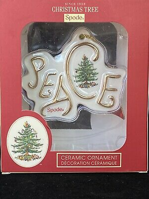Spode Christmas Tree Peace Disk Ornament New in Box