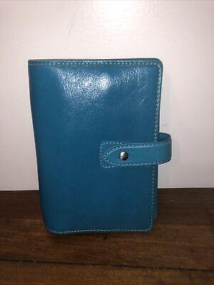 Filofax Personal Malden 26026organiser Kingfisher Blue Luxury Leather
