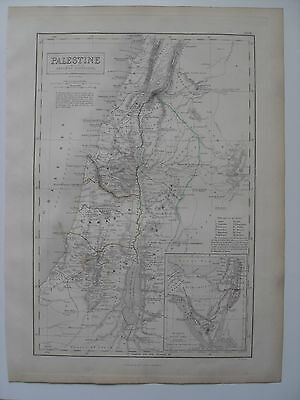 Map of Palestine - 43½ cm x 32 cm (17¼