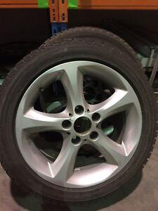 Bmw serie 128-135-328-335  set de mags 5x120 pneus d hiver