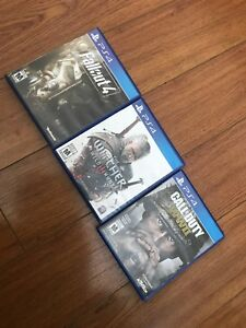 Fallout 4, Witcher 3, World at War 2