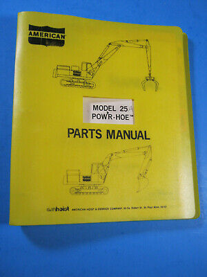 American Crane 25a-698-ct Powr Hoe Parts Manual Oem Excavator