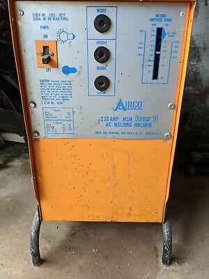 Airco 225 Amp Msm Stinger Ii U Welding Machine Very Lightly Used