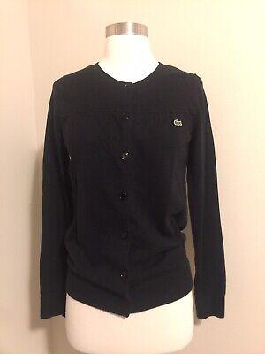 Lacoste Women Black Cardigan 38 eur 6, 8, S, M