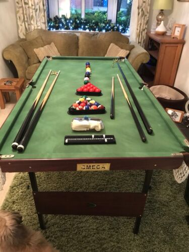 Pool And Snooker Table.  Everything Complete. Foldable. 6ft X 3 Ft