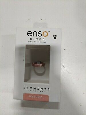 Enso Luxury Silicone Ring Rose Gold SZ 8