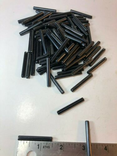 """3/16"""" x 1-1/2"""" Slotted Spring Pin Rolled Steel Black/Oil CB-187-1500 QTY-500"""