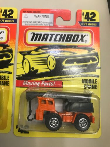 Matchbox 1993-1997 9 Earth Mover 42 Mobile Crane New MOC Lot - $9.95