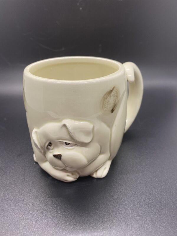 Vintage Fitz and Floyd Porcelain Figurative Dog Coffee Mug Cup 1979